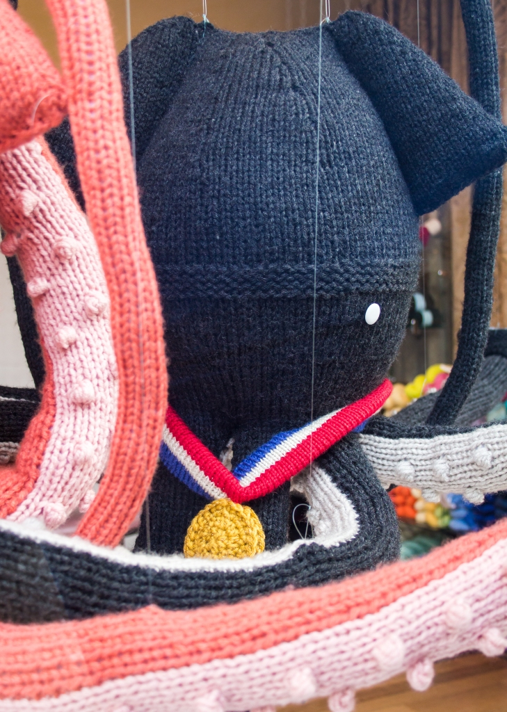 winter olympics knit window display
