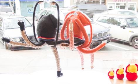 winter olympics knit window display