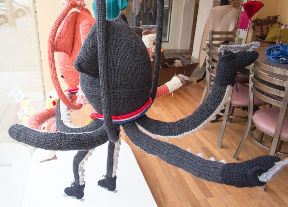 knit window display