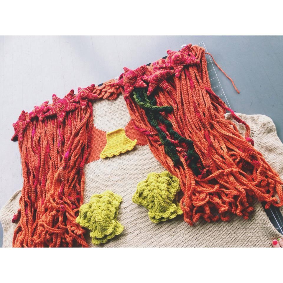 mermaid yarnbombs