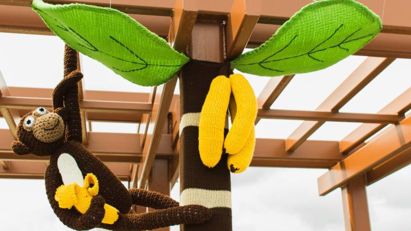Banana Tree Yarnbomb