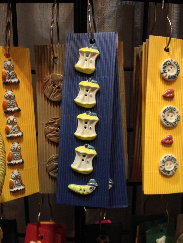 Hand made buttons at Vogue Knitting Live