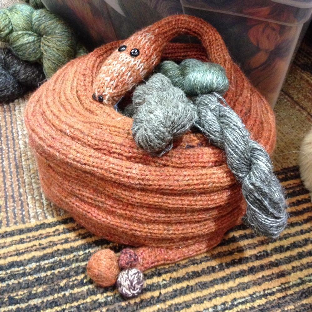 Knit snake charmaer basket