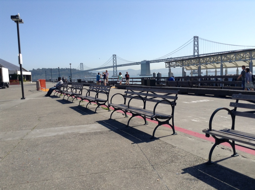 ferry plaza benches
