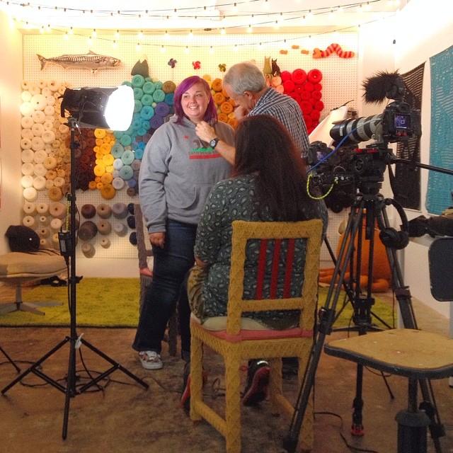cctv america full frame yarn wall studio