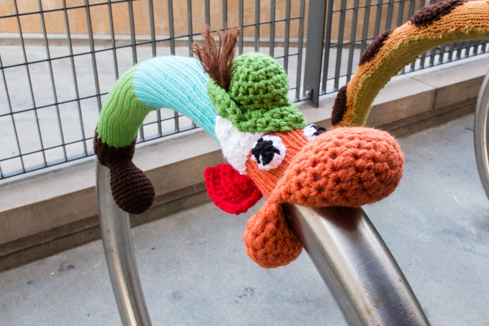Richard Scarry's Lowly Worm yarnbomb