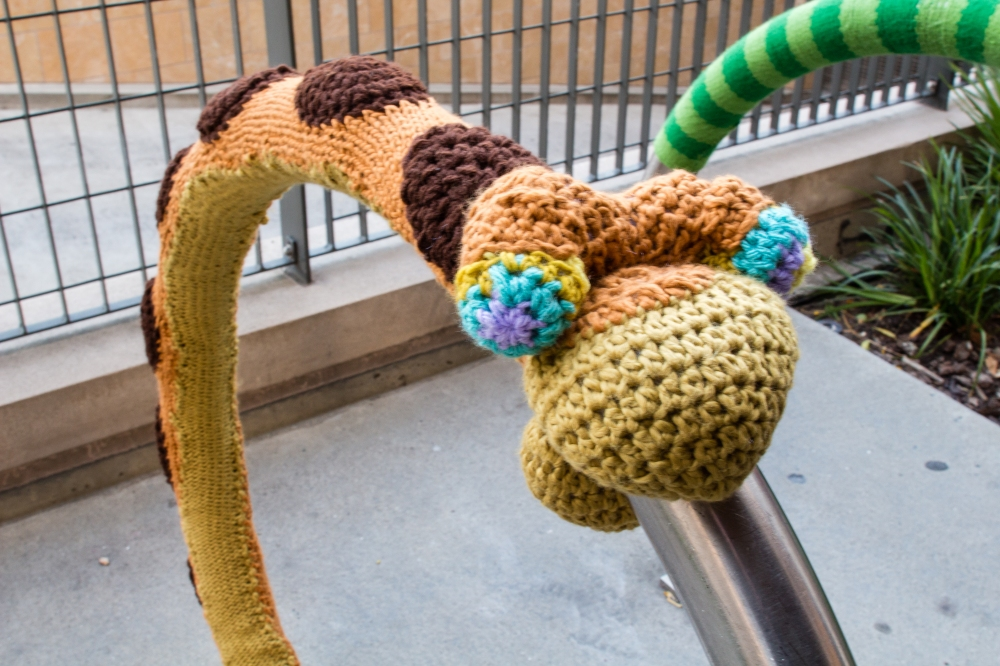 The Jungle Book Kaa yarnbomb