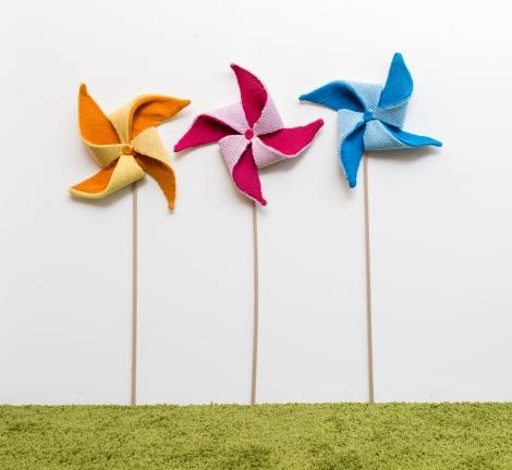 Knit pinwheels