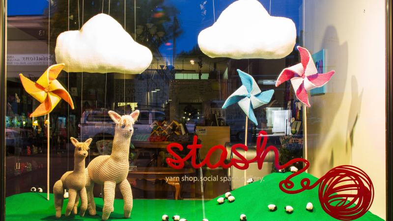 Another Window Display Made Entirely of Yarn