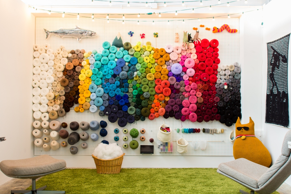Creative Storage Ideas Pegboard Yarn Wall Storage Yarn Knit Crochet Yarn Art Craft