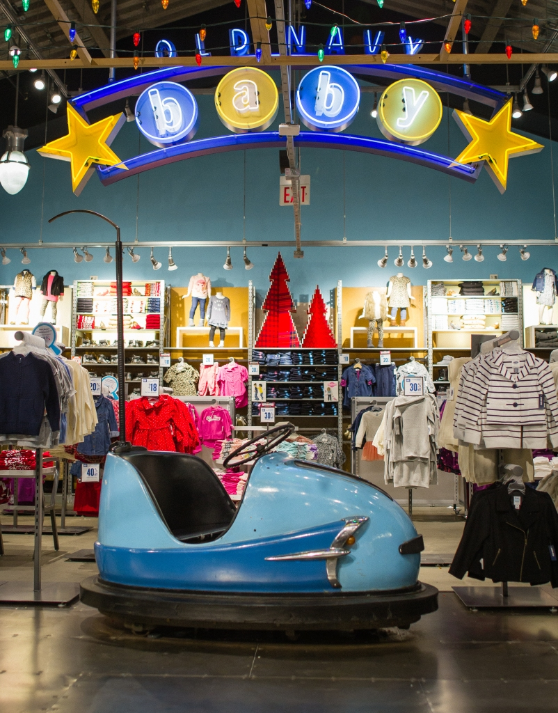 Old Navy Bumper Cars Yarnbomb 1
