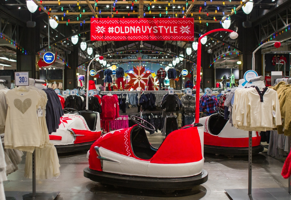 Old Navy Bumper Cars Yarnbomb