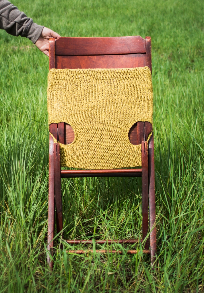 cable knit antique chair bottom