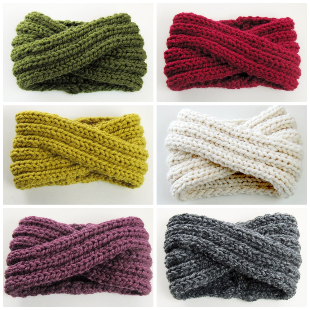 Chunky Turban Headband colors