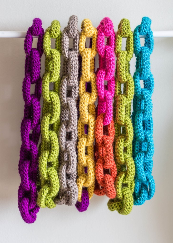 colorful chain scarves