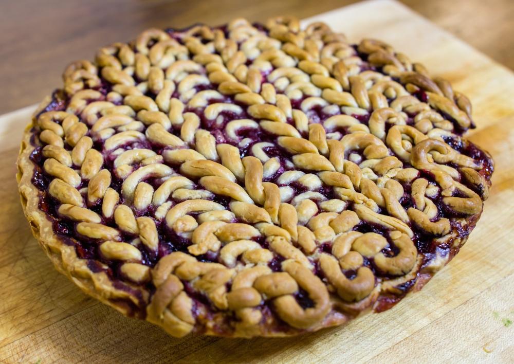 knit pie crust knit lattice top pie pi day 2015