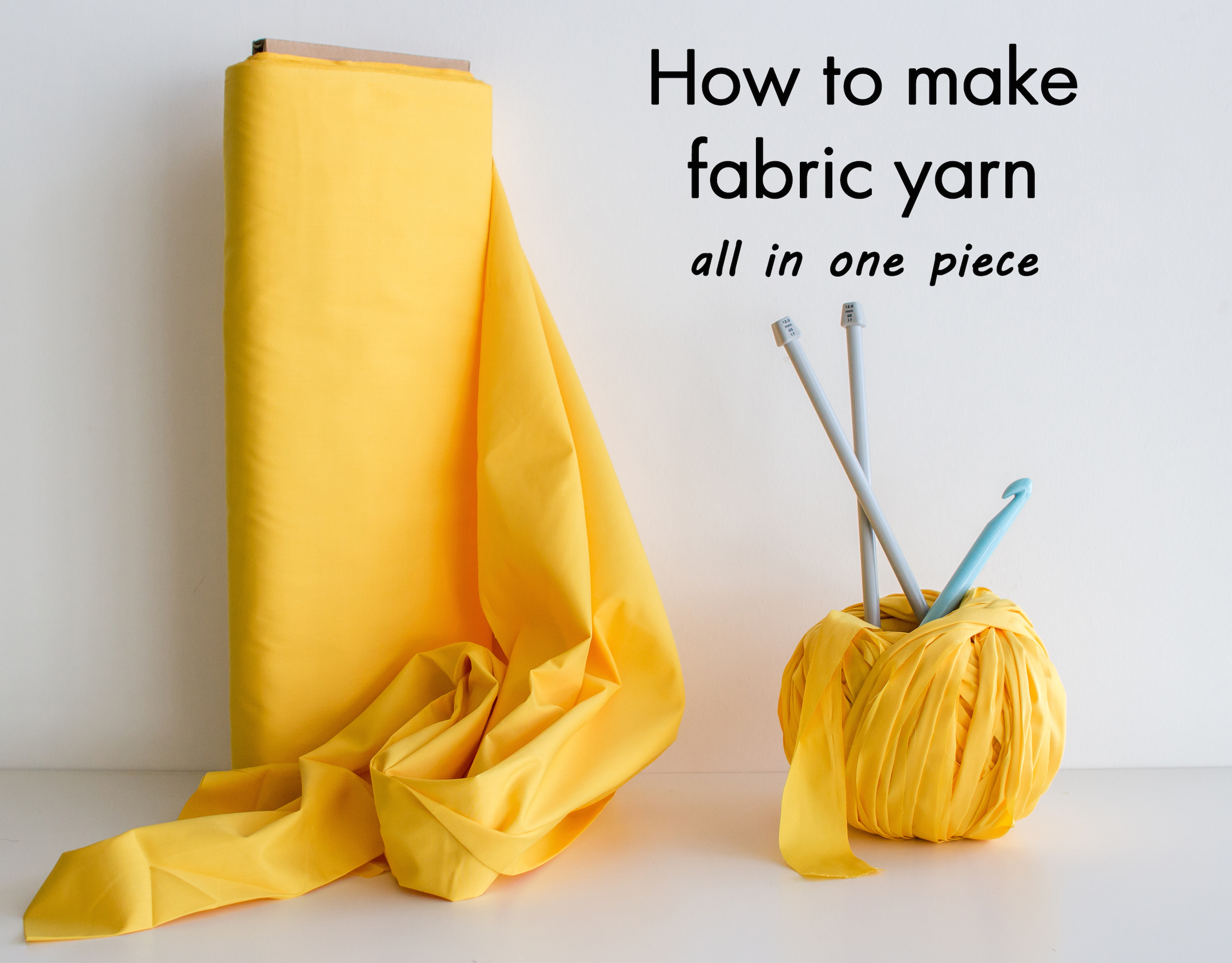How To Make Fabric Yarn All In One Piece Knits For Life