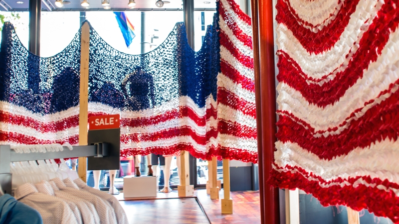Jumbo Knit Flags for Old Navy