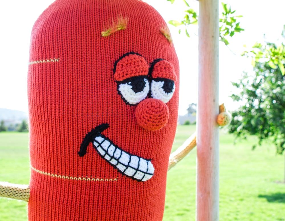 Carrot Tree Yarn Bomb Yarn Storm Knit Bomb yarnbomb