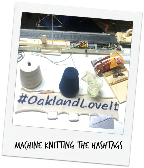 Machine Knit OaklandLoveIt Hashtag