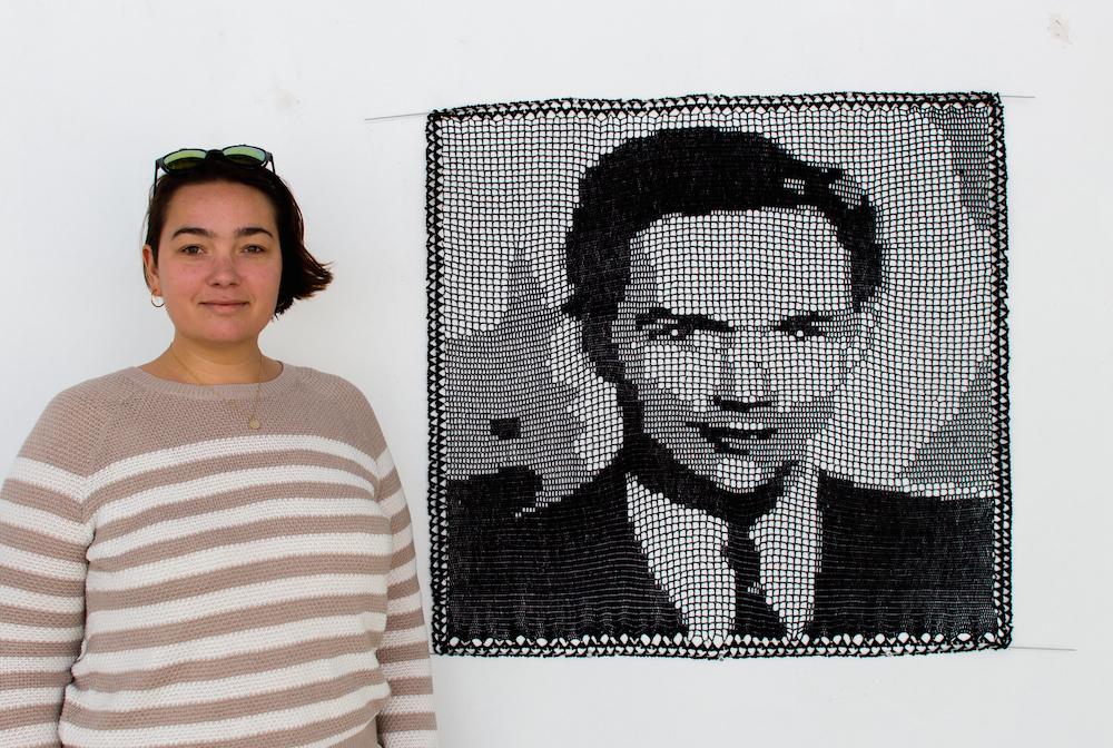 Filet Crochet Portraits by Jill and Lorna Watt