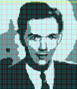 Filet Crochet Portrait chart
