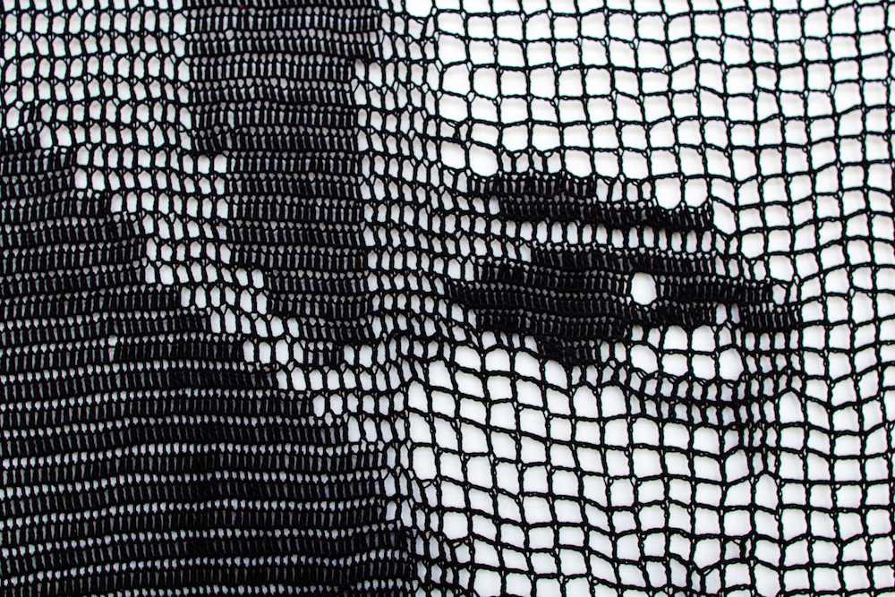 Filet Crochet Portraits by Jill and Lorna Watt