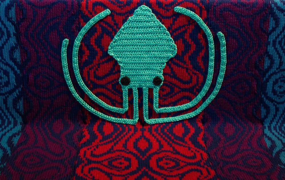 Knit bench yarn bomb knit props GitKraken3