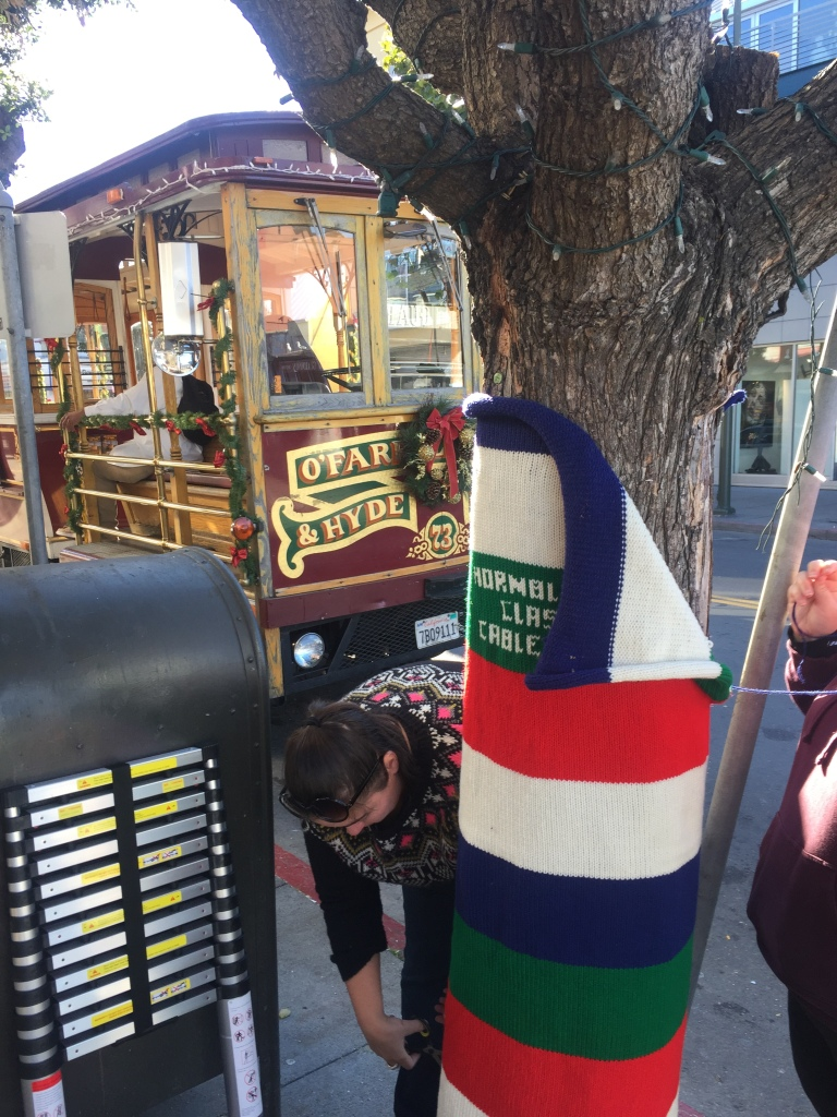 Fishermans Wharf San Francisco Yarn Bomb by Knits for Life Lorna Watt Jill Watt