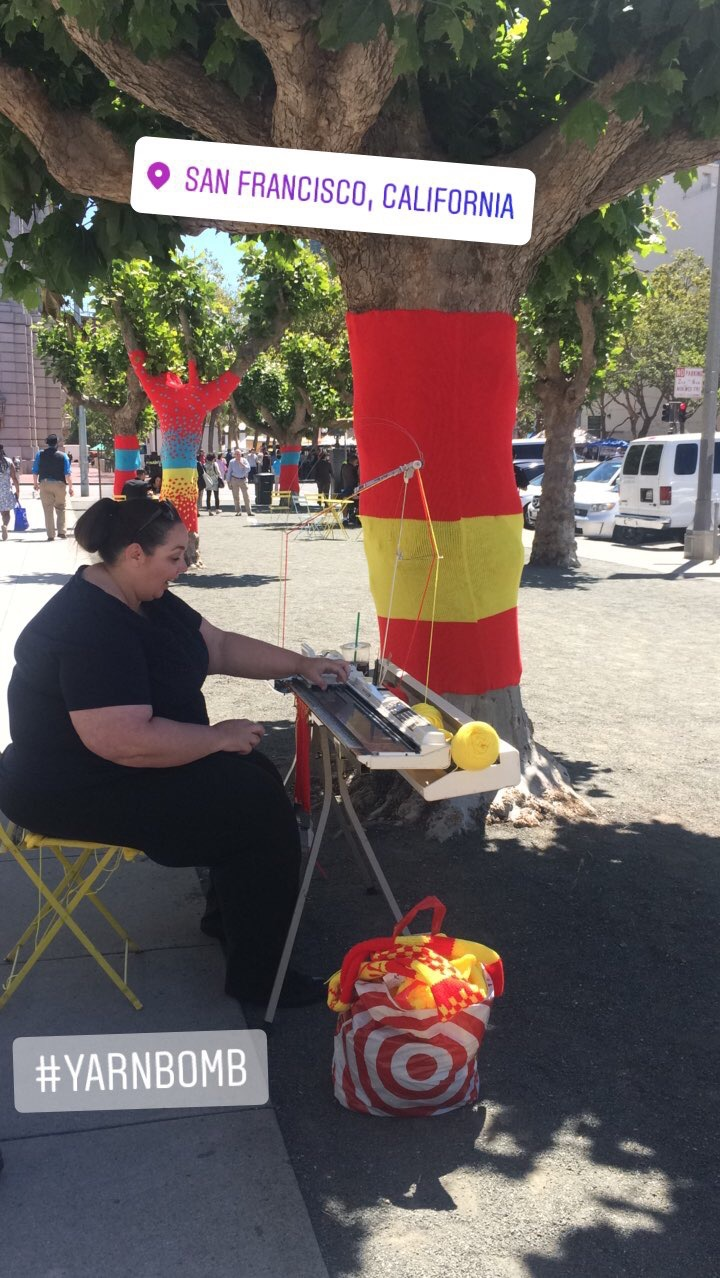 Machine Knitting Demo in San Francisco