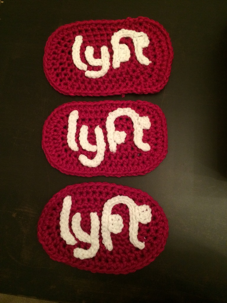 Lyft Merry Mode yarnbombed cars Ishknits Knits for Life