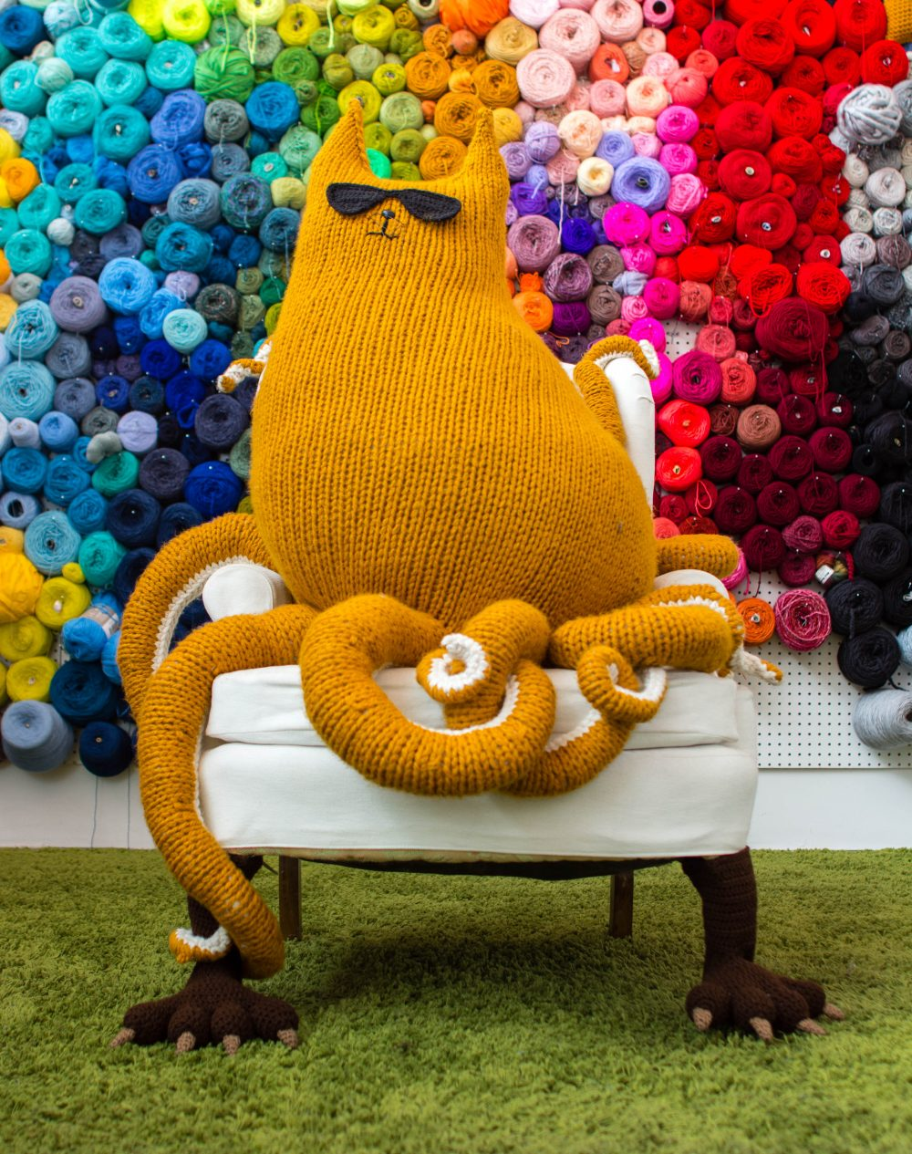 Knits for Life Monster Feet Yarn Bomb Crochet Pattern CC BY-ND 4.0