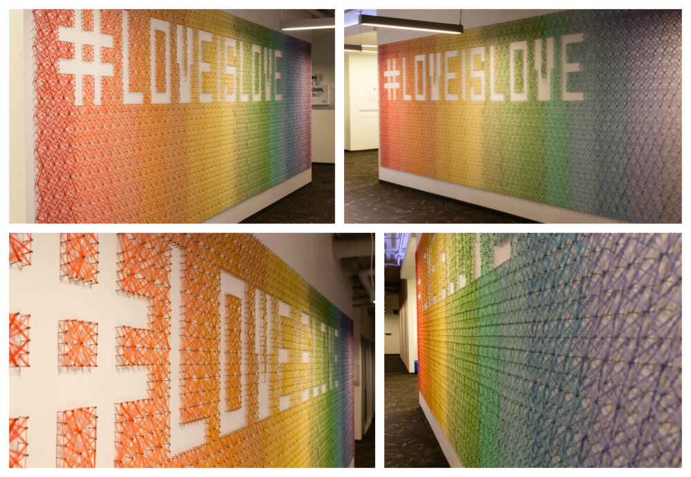 Knits for Life String Art Mural at Twitter HQ CC BY-ND 4.0
