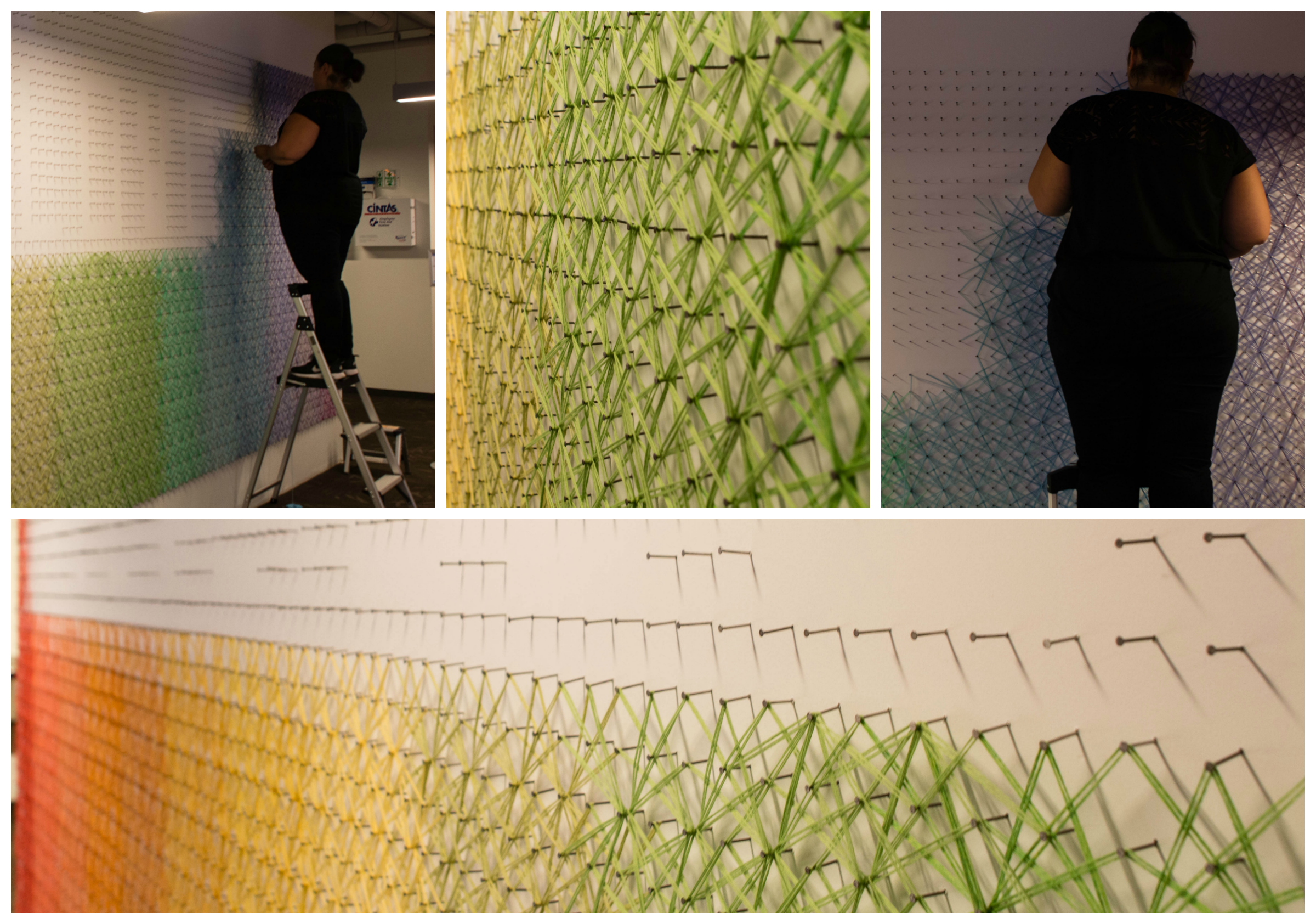Love Is Love String Art Mural at Twitter HQ | KNITS FOR LIFE