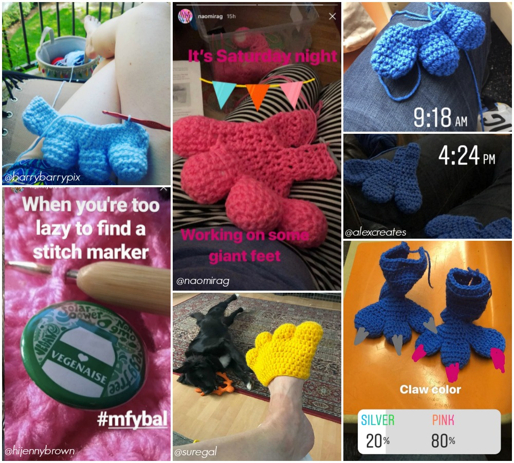 Knits for Life Monster Feet Yarn Bomb Crochet Pattern