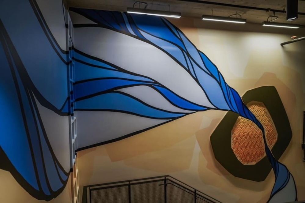 Atlassian 3D string art Mural by Strider Patton and Knits for Life 26